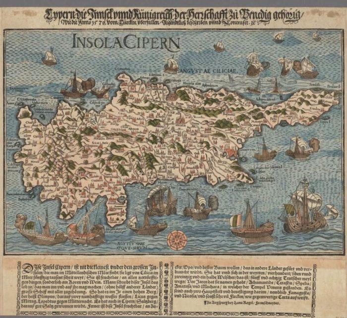 Ciprus régi térkép