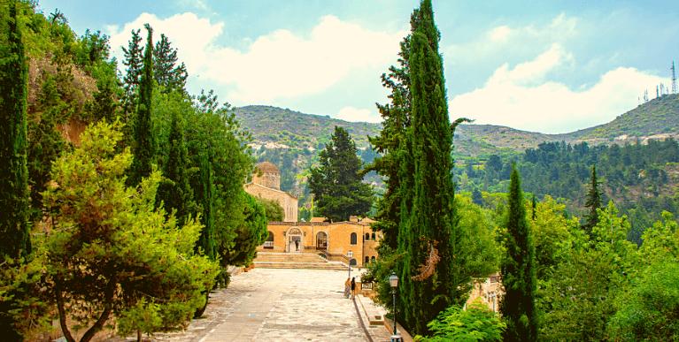 Agios Neofytos kolostor Ciprusi Nap